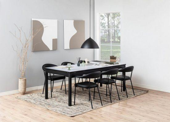 andas Esszimmerstuhl »Alice« 2er Set, aus schönem Kunstleder Bezug, schwarze Metallbeine, Sitzhöhe 48 cm