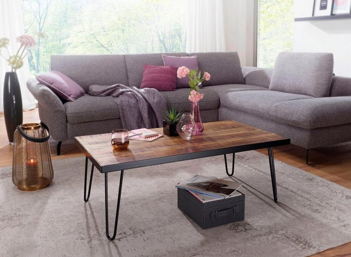 Home affaire Couchtisch Industrial style Massivholz Mango