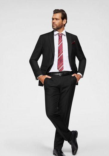 Man's World City Business Anzug 4-teilig (4-tlg., mit Krawatte und Einstecktuch) für Business und festliche Anlässe