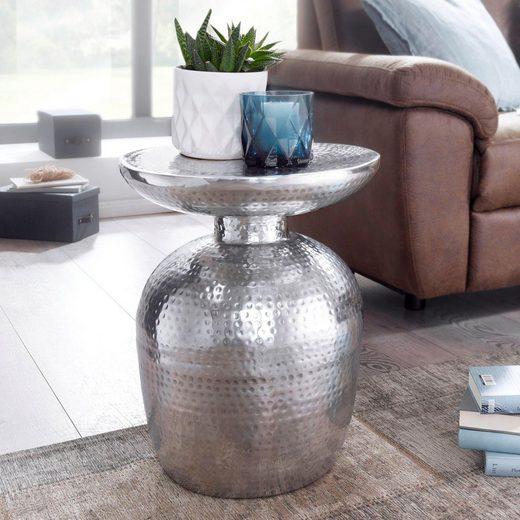 INOSIGN Beistelltisch »Delya«, aus Aluminium gehämmert