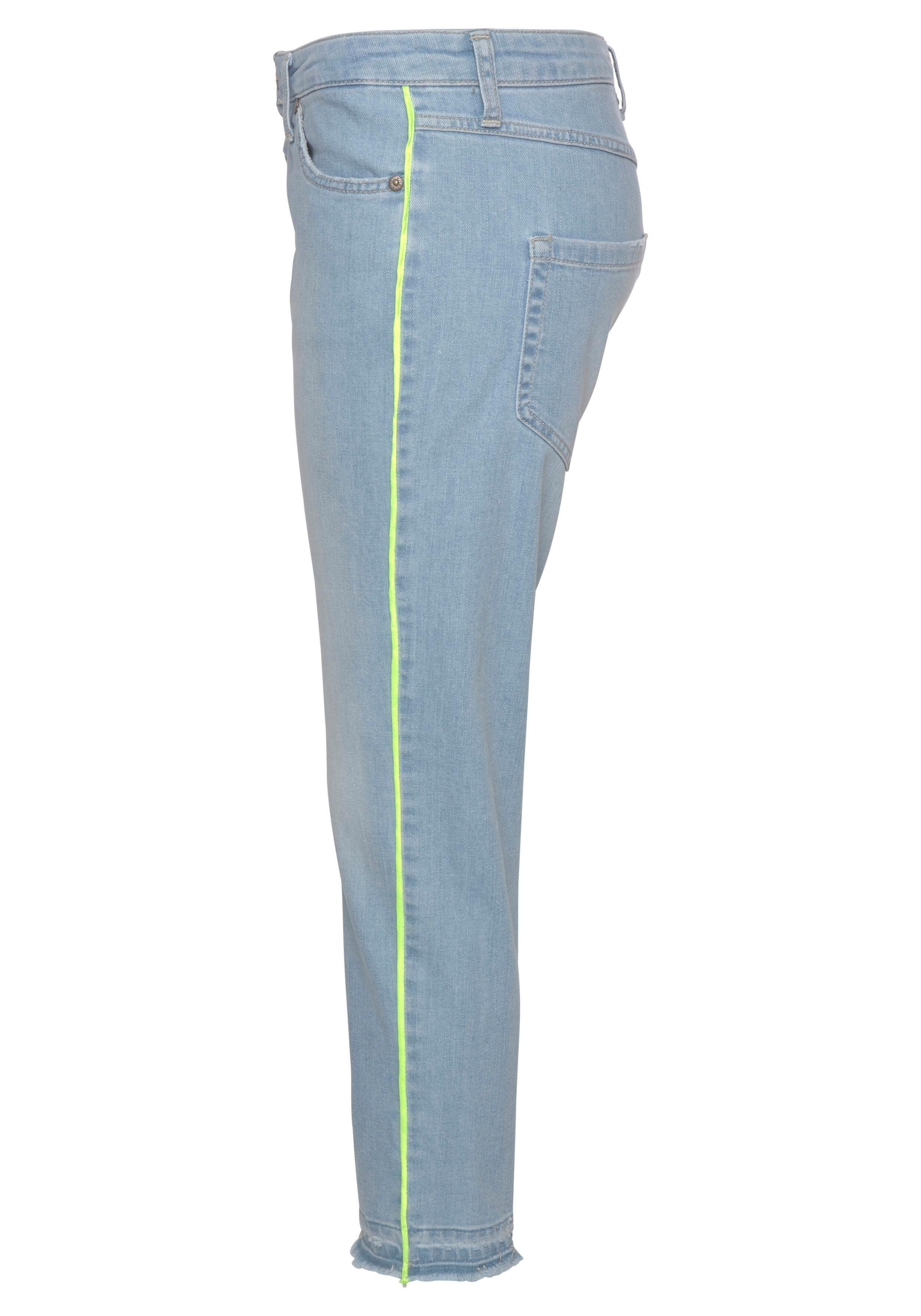 Please Jeans 78 Jeans P36H Boyfriend Fit Crinkleoptik Blue