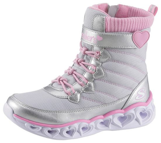 Skechers Kids »Heart Lights« Klettstiefel mit cooler Blinkfunktion in der Laufsohle