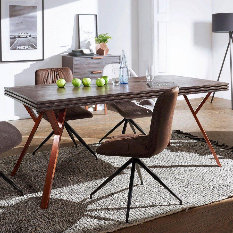 home affaire esstisch dewas im industrial design. Black Bedroom Furniture Sets. Home Design Ideas