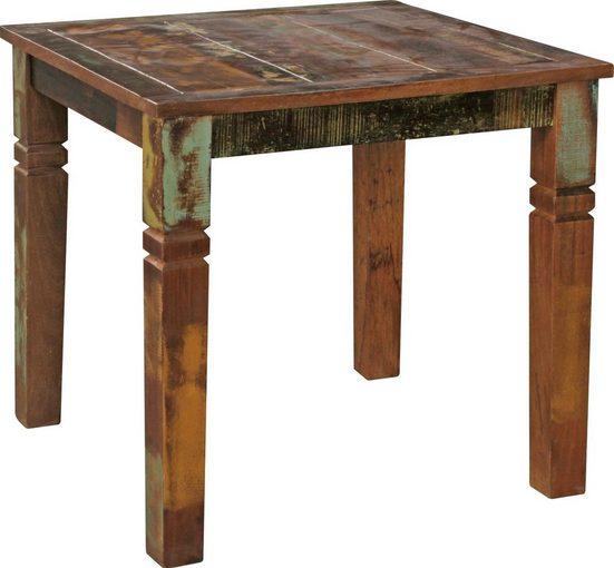 Home affaire Esstisch »Kalkutta«, Massivholz im Shabby Design