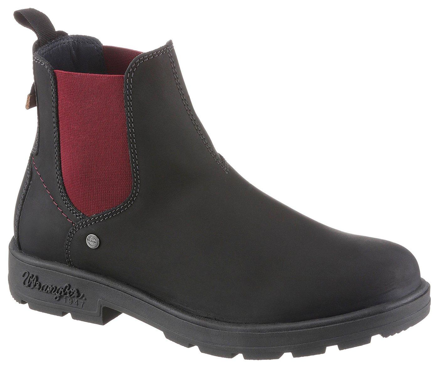 Wrangler »Buddy« Chelseaboots mit kontrastfarbenem Stretcheinsatz | Schuhe > Boots > Chelsea-Boots | Schwarz | Wrangler