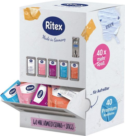 Ritex Kondome »Kondomautomat«, 40 St., im nostalgischen Automaten Look