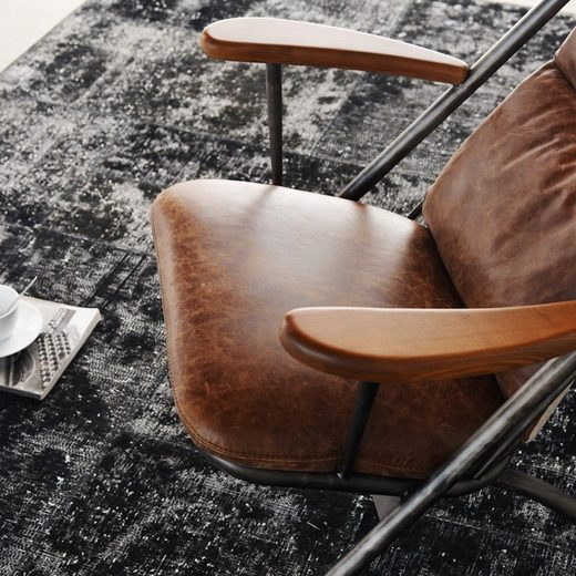 KAWOLA Sessel Vintage-Leder braun »CIANO«