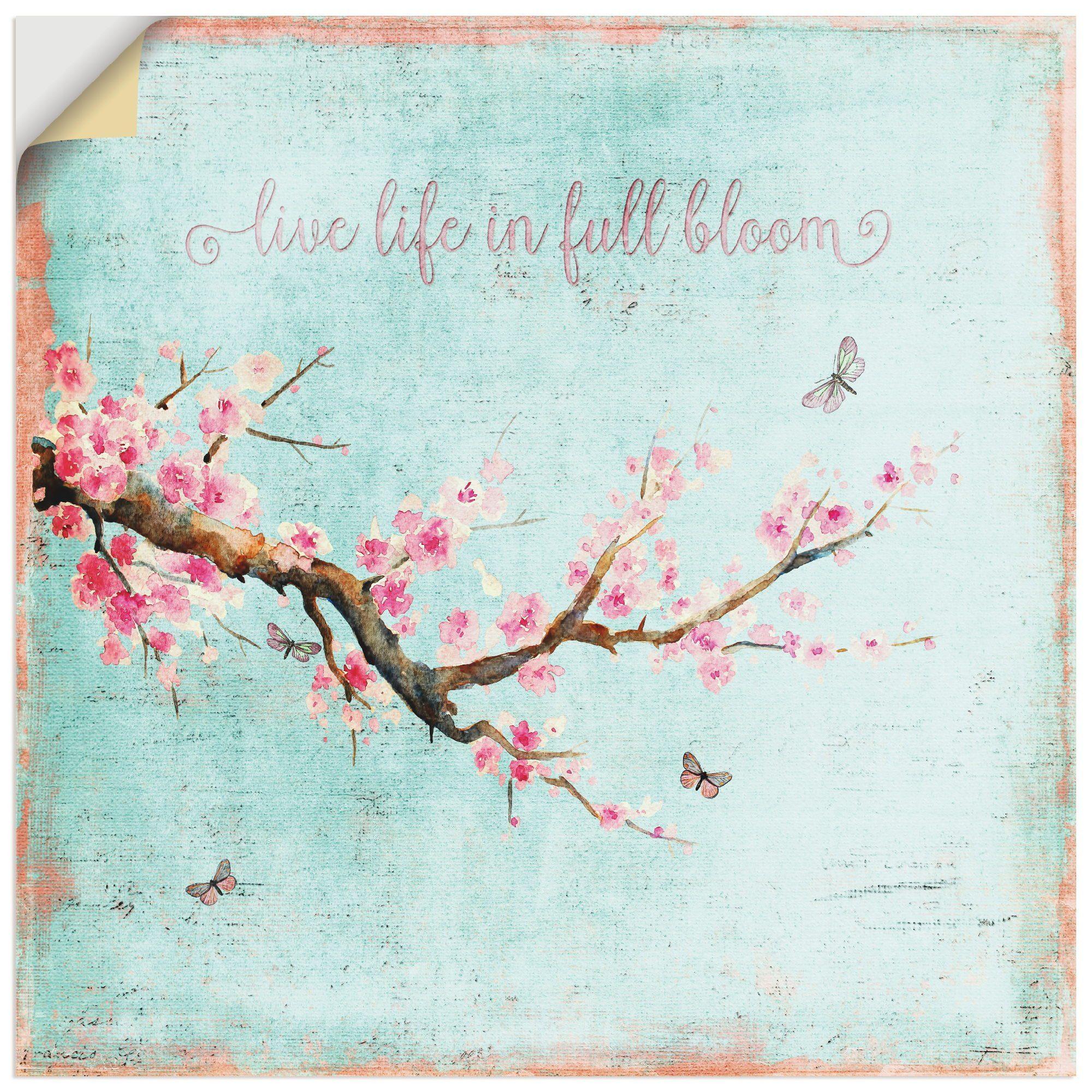 Artland Wandfolie, Premium Wandfolie »UtArt: Kirschblüte«