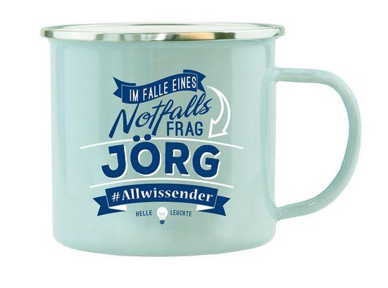 HTI-Living Echter Kerl Emaille Becher »Jörg«