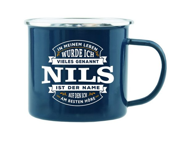 HTI-Living Echter Kerl Emaille Becher »Nils«