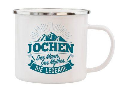 HTI-Living Echter Kerl Emaille Becher »Jochen«