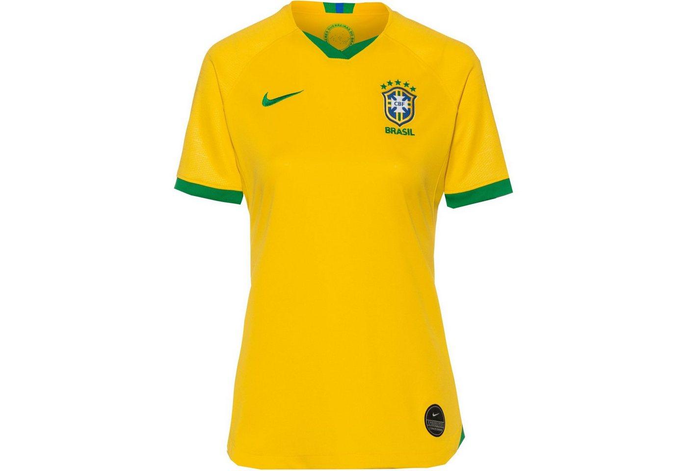 Nike Fußballtrikot »Brasilien 2019 Heim« | Sportbekleidung > Trikots > Fußballtrikots | Gelb | Polyester | Nike