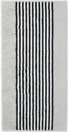 Badetuch »Black & White«, Cawö, mit kontrastvollen Streifen