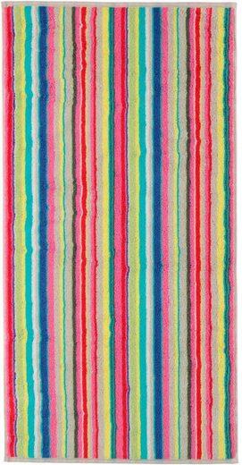 Badetuch »Viva«, Cawö, mit fröhlichen Streifen