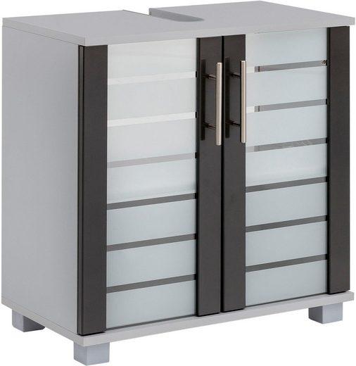 Schildmeyer Waschbeckenunterschrank »Nikosia« mit Glastüren