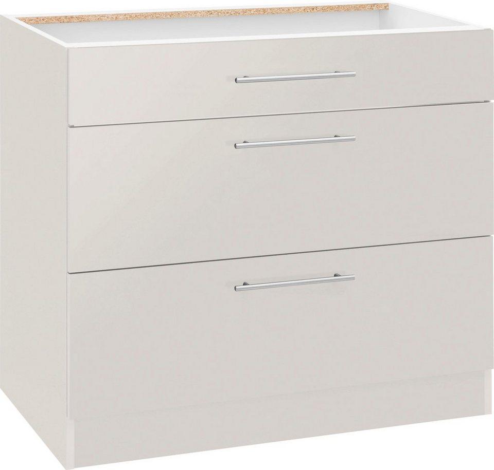 wiho Küchen Unterschrank »Cali« 10 cm breit, mit 10 großen Auszügen ohne  Arbeitsplatte online kaufen  OTTO