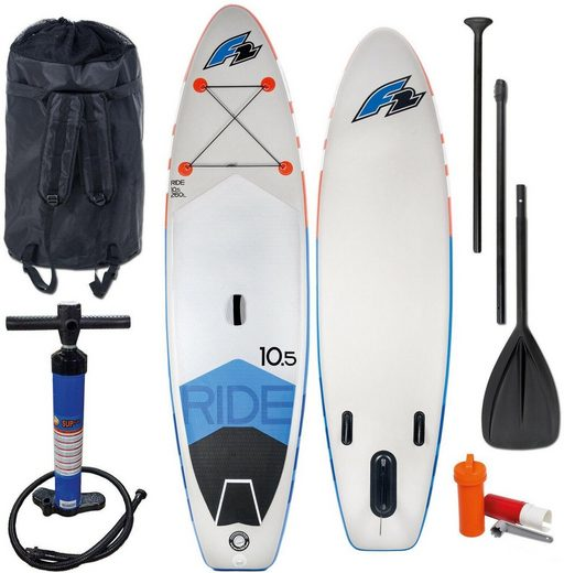 F2 Inflatable SUP-Board »F2 I-SUP Ride«, (Set, mit Paddel, Pumpe und Transportrucksack)