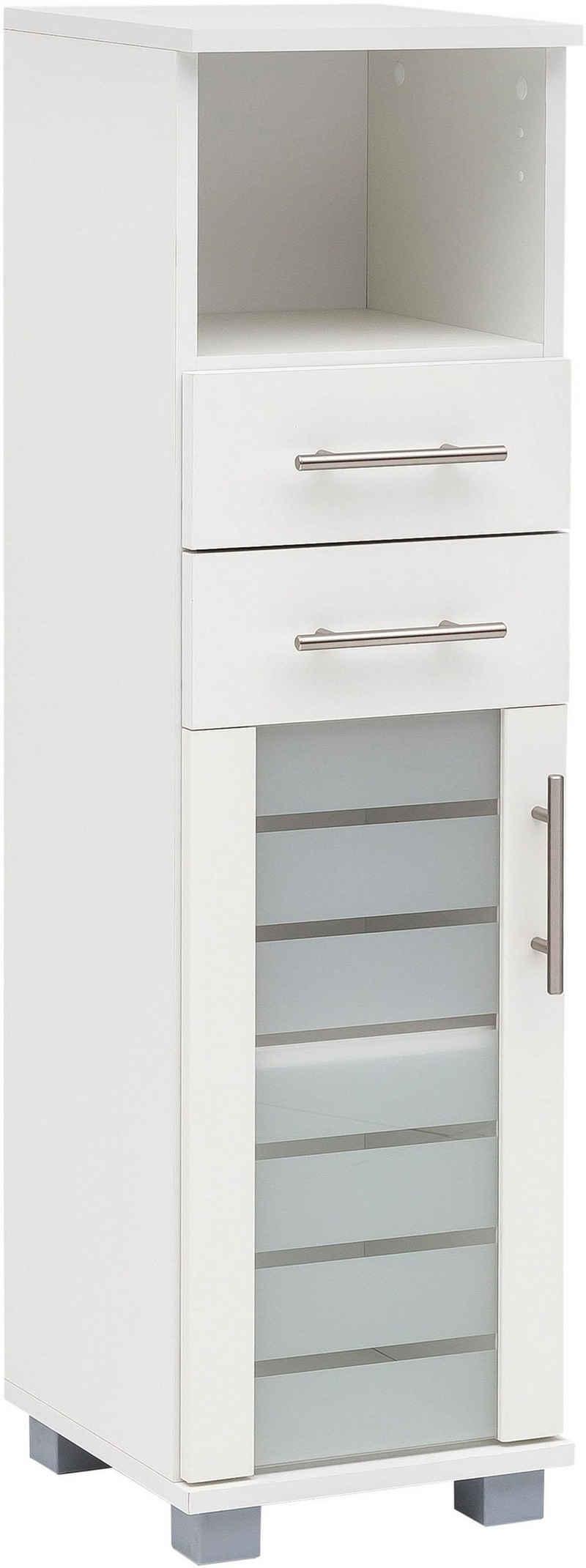 Schildmeyer Midischrank »Nikosia« Breite 30 cm, mit Glastür, 2 Schubladen, hochwertige MDF-Fronten, Metallgriffe