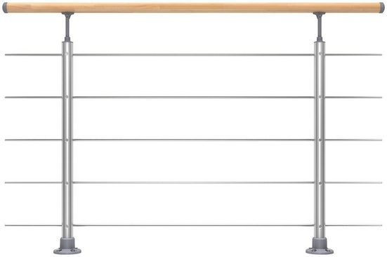 DOLLE Set: Treppengeländer 150 cm Gesamtlänge, Bodenmontage