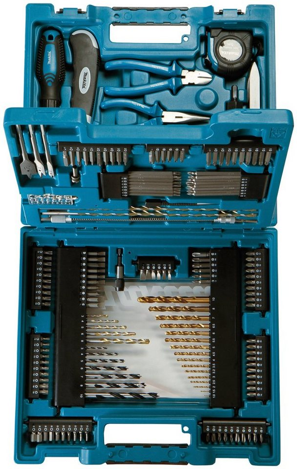 MAKITA Bohrer-Bit-Set »D-37194«, (200-tlg.)   Baumarkt > Werkzeug > Werkzeug-Sets   Blau   Makita