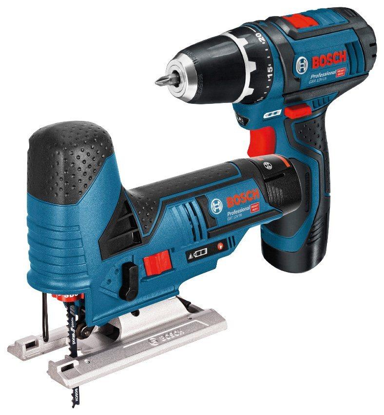 BOSCH PROFESSIONAL Elektrowerkzeug-Set »GSR 12V-15 + GST 12V-70«, 12 V, in Tasche | Baumarkt > Werkzeug > Werkzeug-Sets | Blau | Bosch Professional