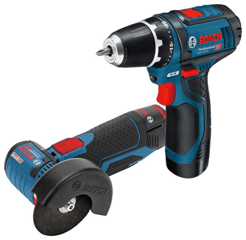 BOSCH PROFESSIONAL Elektrowerkzeug-Set »GSR 12V-15 + GWS 12V-76«, in Tasche | Baumarkt > Werkzeug > Werkzeug-Sets | Blau | Bosch Professional
