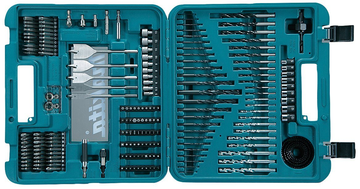 MAKITA Bohrer-Bit-Set »D-47260«, (200-tlg.) | Baumarkt > Werkzeug > Werkzeug-Sets | Blau | Makita