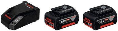 Bosch Professional Ladegerät »GBA 18 V + AL 1860 CV«, 18 V 4 Ah