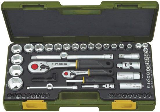 PROXXON Steckschlüsselsatz » für zöllige Schraubengrößen «, (65-tlg)