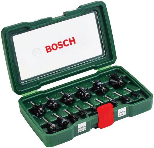 """BOSCH Fräser-Set , 15-tlg., 1/4"""" mm Schaft"""
