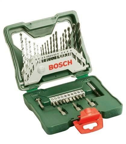 BOSCH Bohrer- und Bit-Set »X-line«, 33-tlg.   Baumarkt > Werkzeug > Werkzeug-Sets   Grün   BOSCH