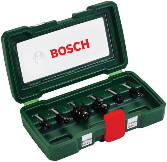 BOSCH Fräser-Set , 6-tlg., 8 mm Schaft