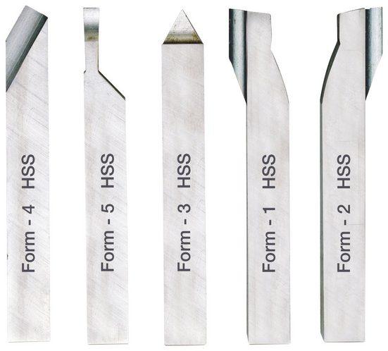 PROXXON Drehstahlsatz »HSS (10 x 10 x 80 mm)«, (5-tlg.)