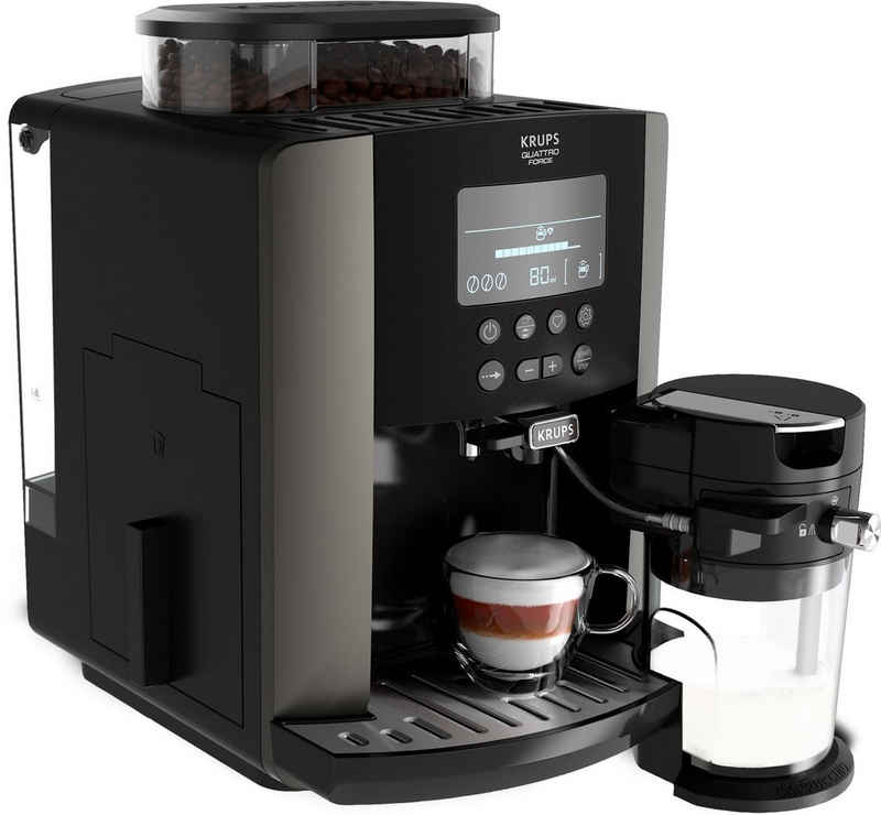 Krups Kaffeevollautomat EA819E Arabica Latte Quattro Force