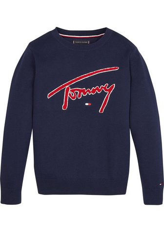 TOMMY HILFIGER Megztinis apvalia iškirpte »TH SWEATER...