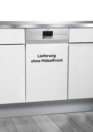 NEFF teilintegrierbarer Geschirrspüler Serie 6, S486T60S1E, 9,5 l, 10 Maßgedecke, 45 cm breit