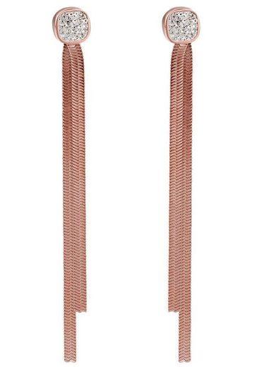 qudo Paar Ohrstecker »Serpente, 316726«, mit Glassteinen