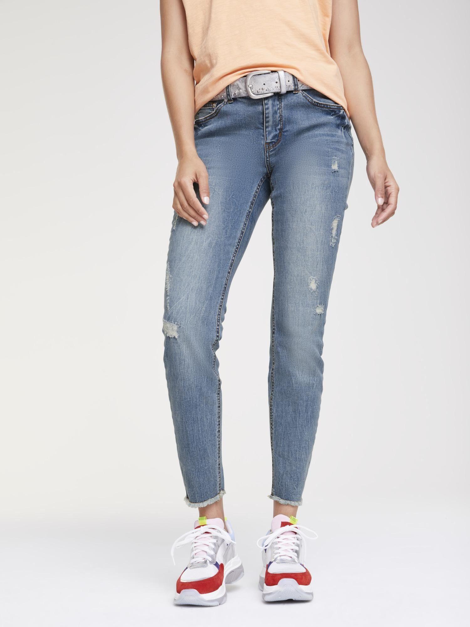 LINEA TESINI by Heine heine CASUAL Jeans Aleria im Used Look, Angesagte Skinny Form online kaufen | OTTO