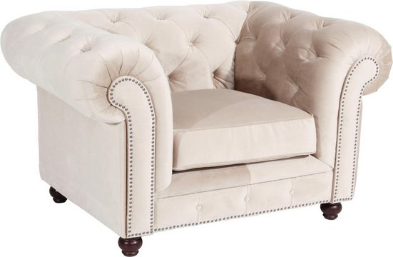 Max Winzer® Chesterfield-Sessel »Old England«, mit edler Knopfheftung