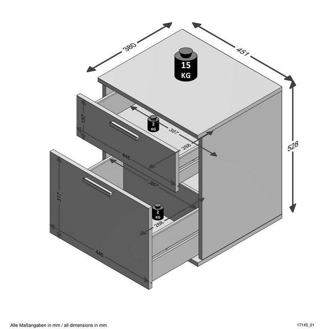 Nachttische - FMD Nachtkommode, Nachttisch  - Onlineshop OTTO
