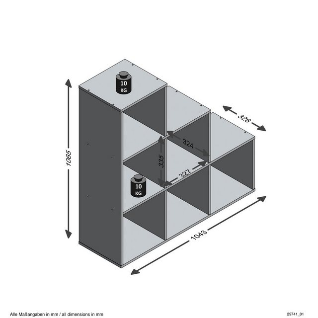 FMD Raumteilerregal »Mega 1« | Wohnzimmer > Regale | FMD