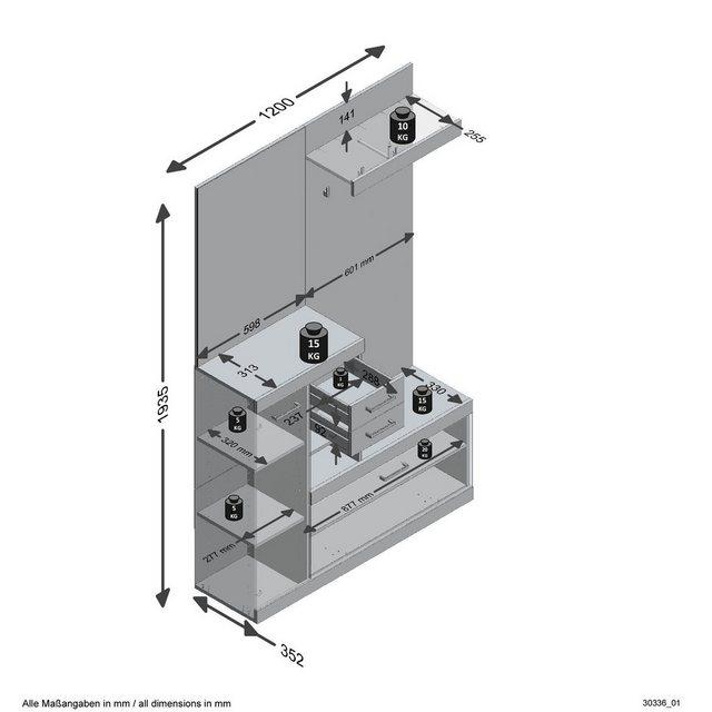 Garderoben Sets - FMD Garderobenschrank »Bristol«  - Onlineshop OTTO
