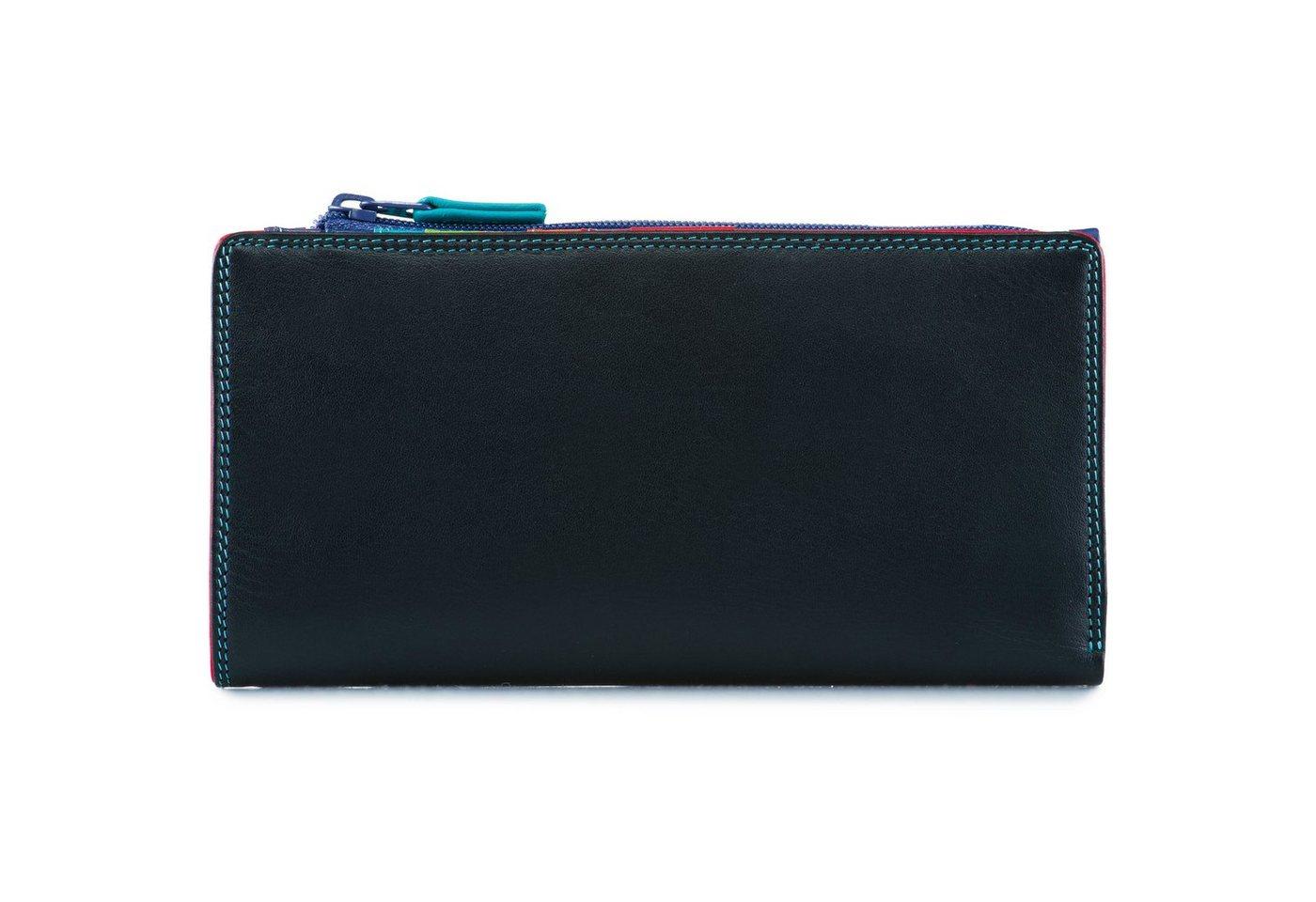 Damen Mywalit Wallet Zipped Centre Geldbörse Leder 9 cm schwarz  Kleinlederwaren