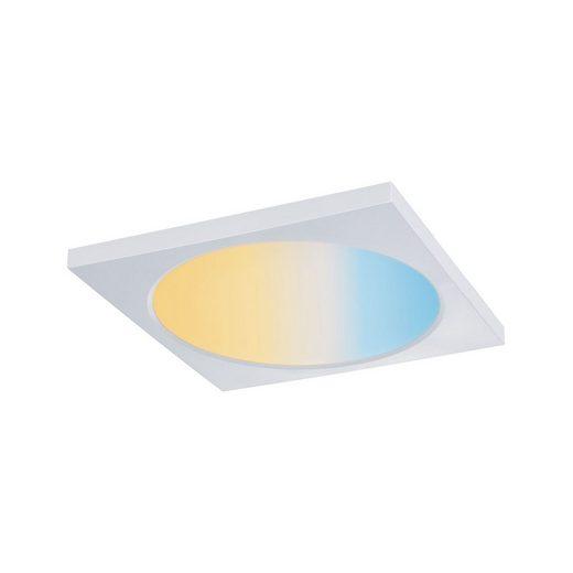 Paulmann LED Einbaustrahler »Panel Dimmbar Badleuchte Weiß eckig 9W«, 1-flammig