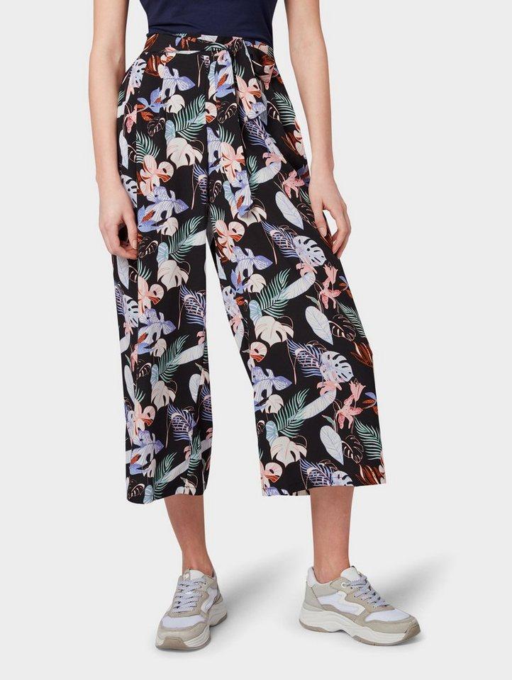 official photos best sale delicate colors TOM TAILOR Denim Culotte »Culotte mit Bindegürtel«   OTTO