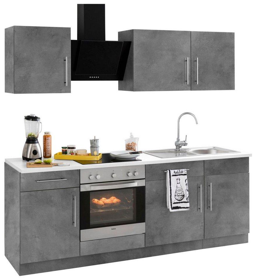 wiho Küchen Küchenzeile »Cali«, mit E-Geräten, Breite 16 cm mit  Metallgriffen online kaufen  OTTO