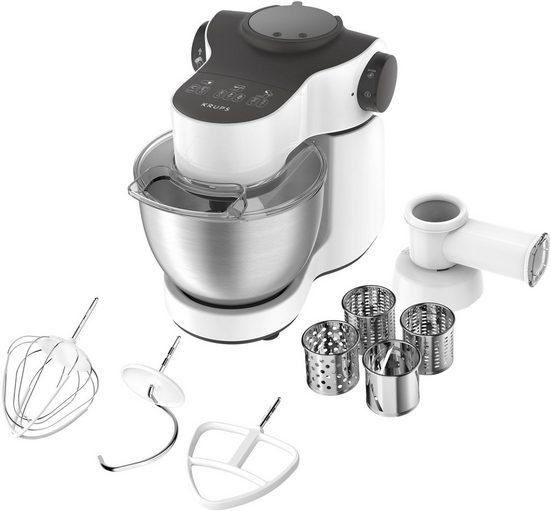 Krups Küchenmaschine KA3121 Master Perfect mit umfangreichem Zubehör, 1000 W, 4 l Schüssel
