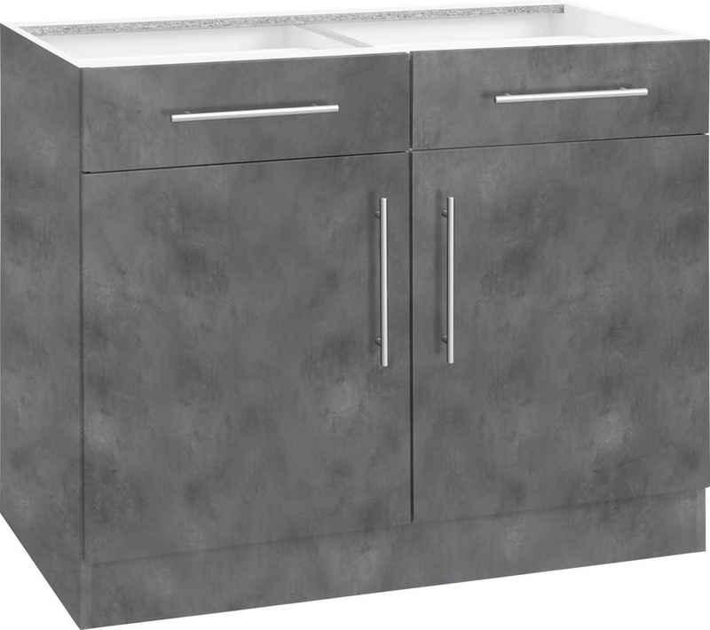 wiho Küchen Unterschrank »Cali« 100 cm breit, ohne Arbeitsplatte