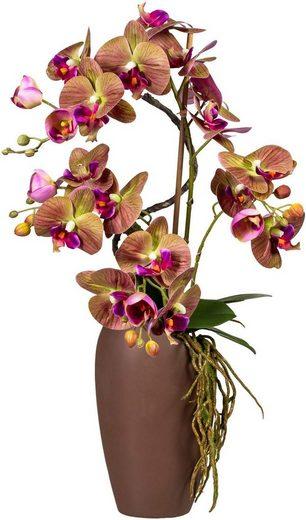 Kunstorchidee Phalaenopsisarrangement, Höhe 70 cm, Soft Touch