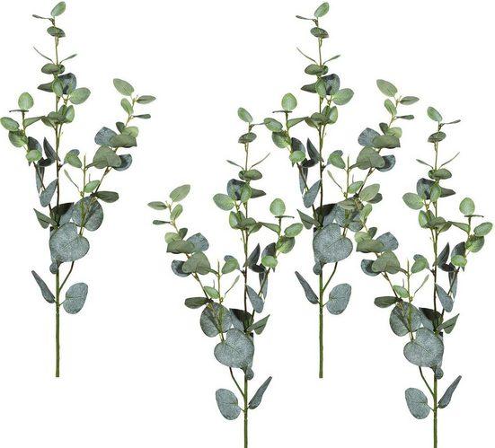 Kunstblume Eucalypthuszweig, Höhe 78 cm (4er Set)